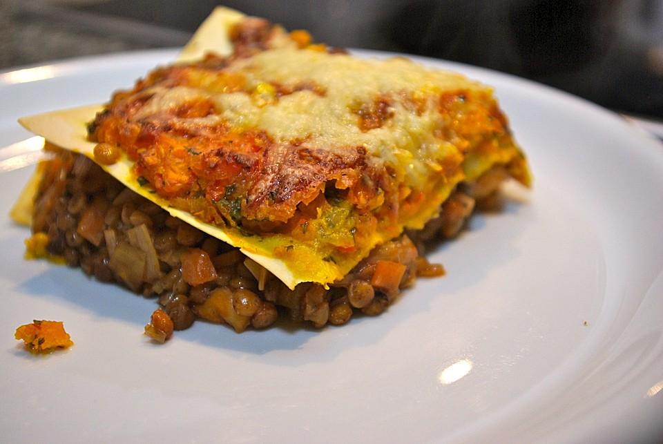 lauch lasagne mit linsen rezepte suchen. Black Bedroom Furniture Sets. Home Design Ideas