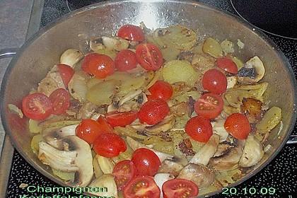 Champignon - Kartoffelpfanne 10
