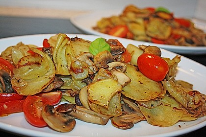 Champignon - Kartoffelpfanne 1