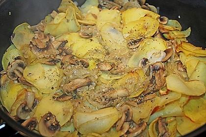 Champignon - Kartoffelpfanne 9