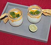 Limettencreme auf frischer Mango