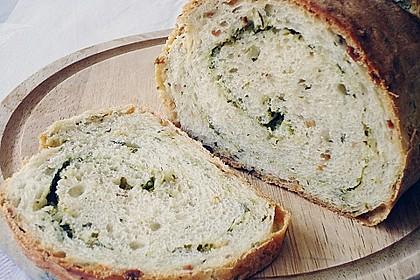 Rucola - Knoblauch - Brot