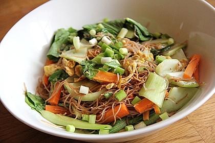 Pad Thai - Gebratene Reisnudeln mit Gemüse 1