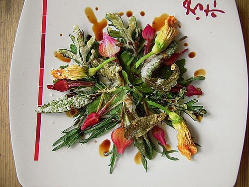salat vom hirschhornwegerich rucola und rote bete bl ttern rezept mit bild. Black Bedroom Furniture Sets. Home Design Ideas