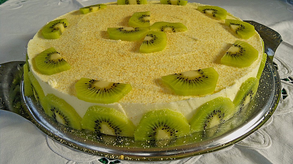 frischk se kiwi torte rezept mit bild von honigschlumpf. Black Bedroom Furniture Sets. Home Design Ideas