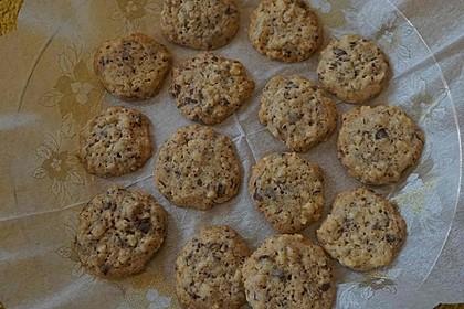 American Cookies mit Nüssen und Schokolade
