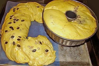 Tiropitaki - Kartoffelstrudel mit Bärlauchsabayon 4
