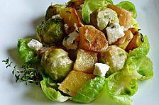 Kartoffel - Rosenkohl - Pfanne mit Feta