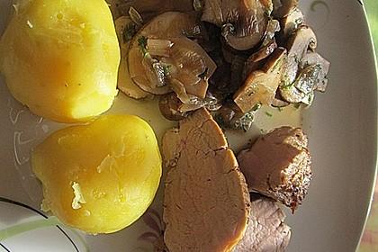 Schweinefilet mit Pfifferlingen oder Champignons 7