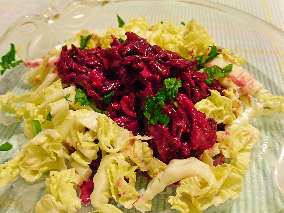 chrissis rote bete apfel salat mit meerrettich rezept mit bild. Black Bedroom Furniture Sets. Home Design Ideas
