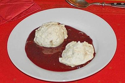 Lebkuchenmousse mit Glühweinsauce 7