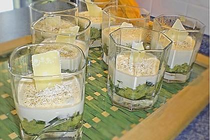 Zucchinikaviar mit Parmesancreme 14