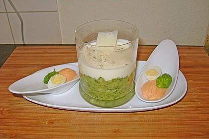 Zucchinikaviar mit Parmesancreme 8