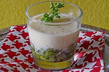 Zucchinikaviar mit Parmesancreme 11