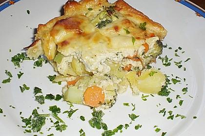 Gemüse - Topfen - Quiche
