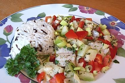 Gemüse - Fisch aus dem Ofen