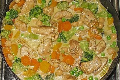Puten - Gemüse - Curry 1