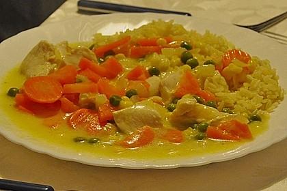 Puten - Gemüse - Curry