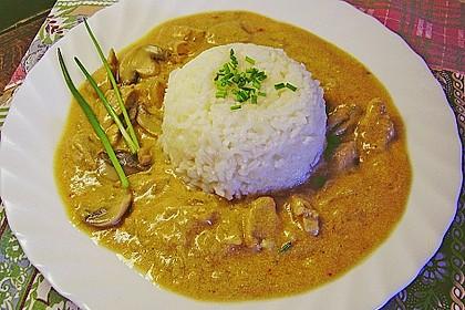 Schweineragout in Curry - Senf - Sauce 1
