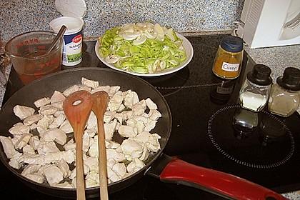 Schweineragout in Curry - Senf - Sauce 10