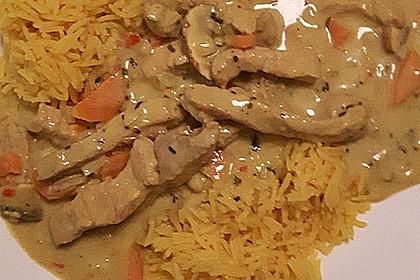 Schweineragout in Curry - Senf - Sauce 2