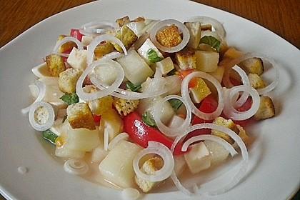 Tomatensalat mit Honigmelone und Schafskäse 5