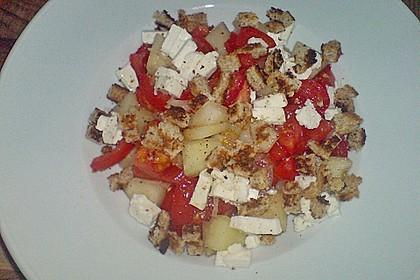 Tomatensalat mit Honigmelone und Schafskäse 28