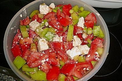 Tomatensalat mit Honigmelone und Schafskäse 24