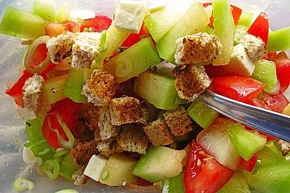 Tomatensalat mit Honigmelone und Schafskäse 6