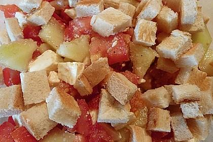 Tomatensalat mit Honigmelone und Schafskäse 21