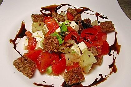 Tomatensalat mit Honigmelone und Schafskäse 8