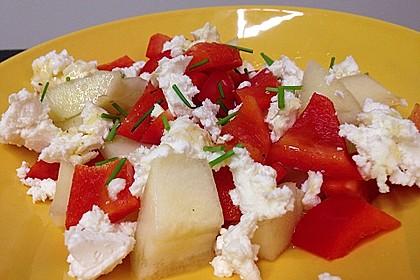 Tomatensalat mit Honigmelone und Schafskäse 23