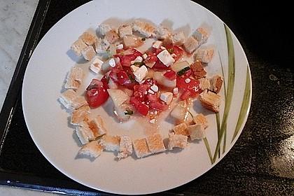 Tomatensalat mit Honigmelone und Schafskäse 29