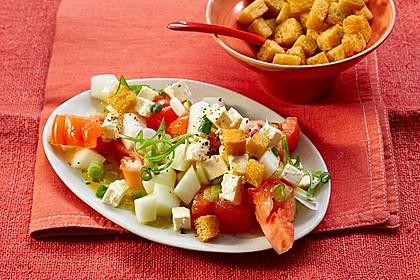 Tomatensalat mit Honigmelone und Schafskäse 1
