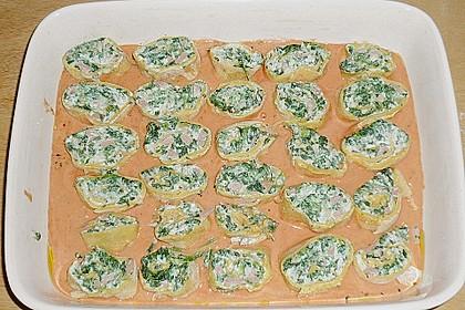 Toskanische Nudelröllchen mit Spinat 2