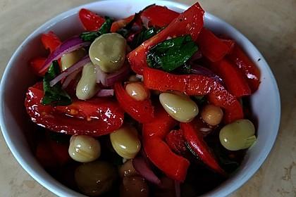 Salat mit weißen Bohnen und Tomaten 2