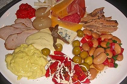 Salat mit weißen Bohnen und Tomaten 9