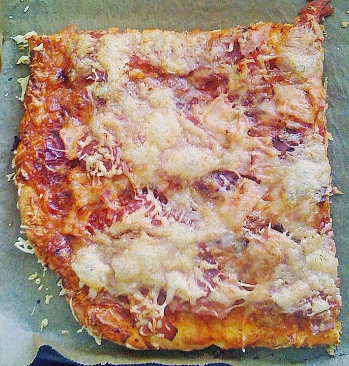 Rezepte pizza ohne hefe
