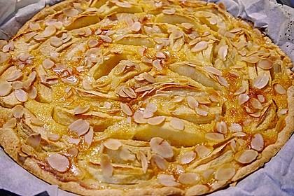 Apfelkuchen mit Amaretto - Sahne - Guss 6