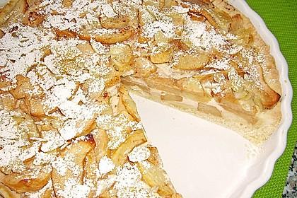 Apfelkuchen mit Amaretto - Sahne - Guss 2