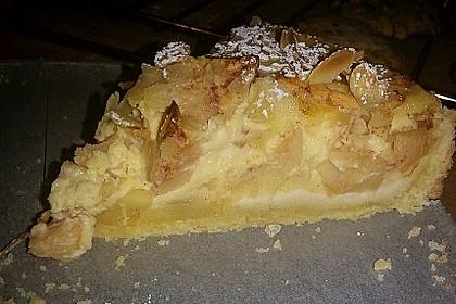 Apfelkuchen mit Amaretto - Sahne - Guss 8