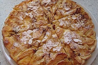 Apfelkuchen mit Amaretto - Sahne - Guss 5