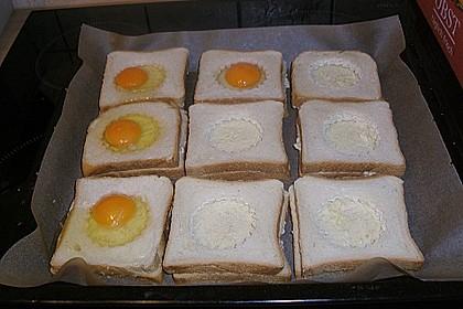 Eier im Toastbrot mit Rosmarin - Butter 37