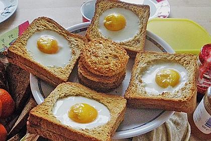 Eier im Toastbrot mit Rosmarin - Butter 16