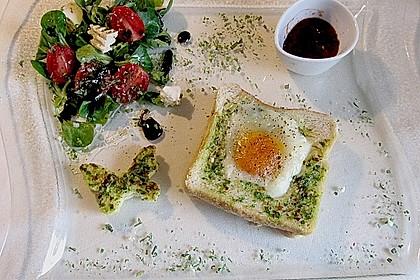 Eier im Toastbrot mit Rosmarin - Butter 11