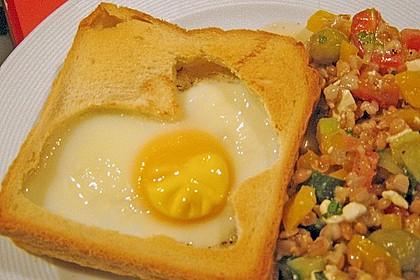 Eier im Toastbrot mit Rosmarin - Butter 47