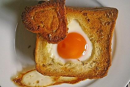 Eier im Toastbrot mit Rosmarin - Butter 29