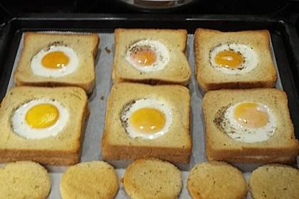 Eier im Toastbrot mit Rosmarin - Butter 34