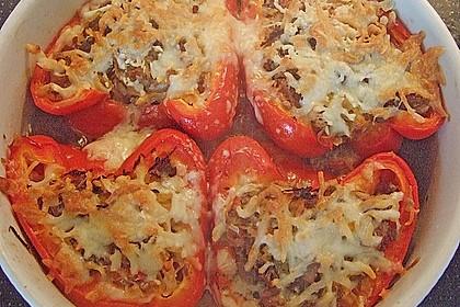 Paprika gefüllt mit Hack und Sauerkraut 3