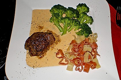 Brittas Rindersteak mit Käse - Sauce 1